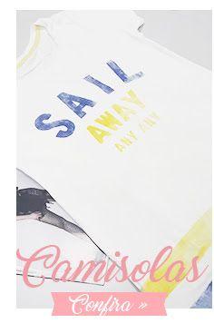 Camisolas: foto de uma foto de camisola branca com estampa azul e amarela.
