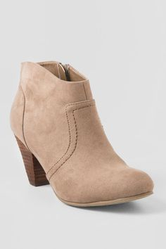 XOXO, Taupe Aldenson Ankle Boot | Boots and Booties | francesca's