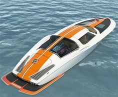 63 Corvette inspired speed boat concept. Designed by Swedish designer Bo Zolland, concept uses many  design feats of 63 Corvette incl split rear window,rounded windscreen,tapering rear roofline,side windows,louvered deck hood.  Entry to the 1963 Corvette speed boat concept is via the Gullwing doors. As Inside is the seating for five people. The Proposed power for the concept comes from a variety of engines with the maximum horsepower output of 550 hp with the estimated top speed being 70…