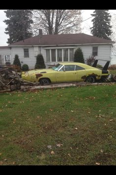 The value of these cars will most likely increase. However a person looking at this particular car has to wonder what will be left to restore the longer it is left to the elements.