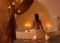 Tranquil bath...