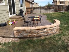 seating walls patio - Google Search