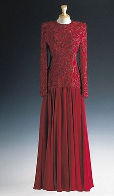 Stunning evening dress, by Bruce Oldfield 1986
