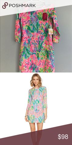 Fansea pants Sophie dress Still in stores for $138. Colors are much brighter in person! Can do less on 🅿️🅿️, shipping included on 🅿️🅿️! Lilly Pulitzer Dresses Mini