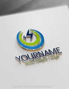Design Your Own Electrician Logo Using The Best Free Logo Maker. Design Free Logo Online made Electrician logo making simple and quick. Create A Logo Free, Make Your Logo, Company Logo Maker, Electrical Company Logo, Electrician Logo, Free Logo Creator, Lightning Logo, Power Logo, Logos