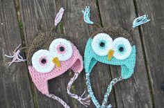 Crochet Baby Owl hat $15.00