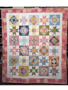 Quilting - Bed Quilt Patterns - Scrap Quilt Patterns - Tropical Two Block Quilt