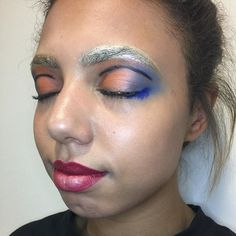 """Catwalk make up look I created I'm not too sure on this look #catwalkmakeup #bright_and_bold #goldeyebrows #manchestermua #traineemua #ringlight #iphone6plusphotography by erinlucy89 Follow """"DIY iPhone 6/ 6S Plus Cases/ Covers/ Sleeves"""" board on @cutephonecases http://ift.tt/1kAxdjF to see more ways to add text add #Photography #Photographer #Photo #Photos #Picture #Pictures #Camera #Only #Pic #Pics to #iPhone6SPlus Case/ Cover/ Sleeve"""