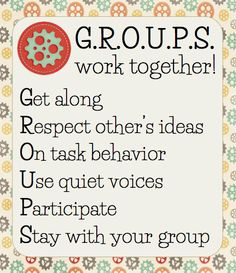 Free poster for group work