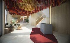 hotel estambul ©pptinteriorismo #hotel #turquia #estambul #concurso #pptinteriorismo #interiordesign #interiorismo #colors #hall