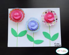 Recycle Downy Lids Into Rose Art!