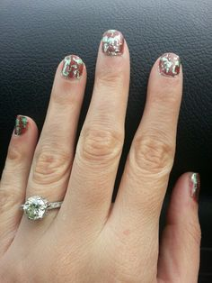 Foil metallic nails