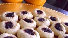Mandarin Cranberry Thumbprint Cookies