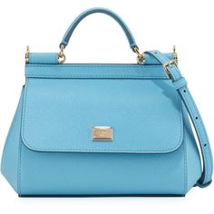 Dolce & Gabbana Sac En Cuir Micro Sicile Crossbody, Bleu