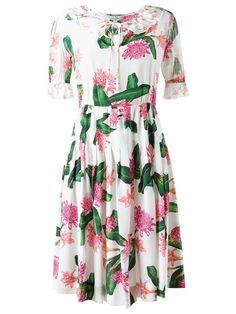 Isolda Vestido floral de seda