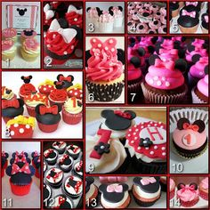 Disney Donna Kay: Disney Party Boards...Minnie Mouse Cupcakes