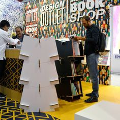 estanteria modular carton reboard cprint diseñada por cartonlab cardboard modular shelf bookshelf designed by cartonlab