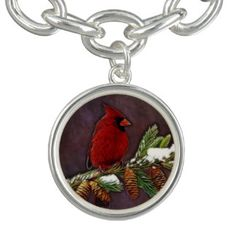 Cardinal and Pinecones - - -  A lovely image of a brilliantly #red #male #cardinal on a #snow dusted #pine branch complete with #pinecones. Perfect for #Christmas sentiments, or any other #winter #holiday! - - -    There's lots more designs at my Zazzle shop!  http://goo.gl/ZdWOvk