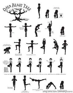 open heart yoga sequence infographic  vinyasa yoga