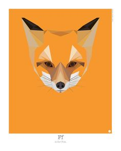 Animal Alphabet by Mat Mabe via Design Milk animal-alphabet-f-fox-mat-mabe Art And Illustration, Illustrations Posters, Alfabeto Animal, Fox Print, Animal Alphabet, Design Graphique, Animal Sketches, Modern Artists, Design Art