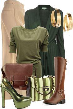 Grüntöne für den Herbst Farbtyp