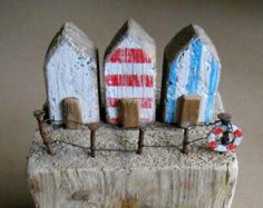 Driftwood Art, Reclaimed Wooden House, Recycled, House Ornament, Coastal Art, Rustic, Beach HutHouse Warming