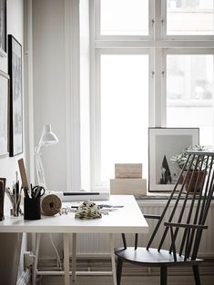 Scandinavian design desk | @andwhatelse