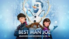 """Pin for Later: You Have to See the """"Coolest"""" Frozen Covers of 2014 Best Man's Toast This couple's names were just asking for a Frozen wedding toast, right?"""