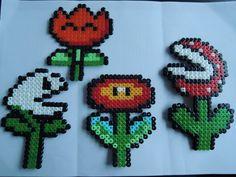 Blumen von Mario aus Bügelperlen  Perler Beads