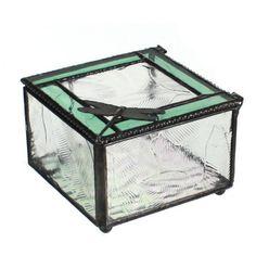 glass, dragonfly memory box