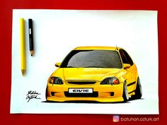 sarıKabadayı ________________________________#honda #hondacivic #civic #civictyper #hondas #hondasi #subaru #warex #mitsubishi #karakalem #araba #cizim #çizim #portre #arabacizimi #accord #mustang #chevrolet #ford #yellow #art #draw #drawings #drawing #sketch #pen #fabercastell #stance #airsociety #stanceworks #tofas #tofaş #dogan #doğan #slx @art.batu