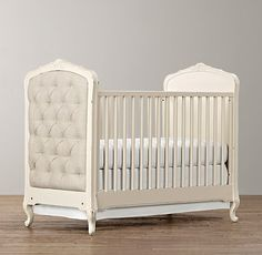 Colette Crib - Restoration Hardware.....Possibly DIY the tufted pieces onto a less expensive crib??  LOVE.