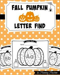 Fall Pumpkin Alphabet Letter find. Uppercase and Lowercase. Great literacy activity or centers activity idea.