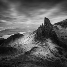 Scotland photography by Michal Vitasek. In Nature, Scenery, Mountain. Scotland photography by Michal Vitasek. Beautiful Rocks, Beautiful World, Beautiful Pictures, Bw Photography, Landscape Photography, Black And White Landscape, Home Photo, More Pictures, Black And White Photography