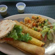 """guilty"" vegan food... Mr. Natural - best mexican food in Austin."