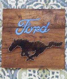 Ford Mustang cadena Arte / arte la cadena / / plataforma firme