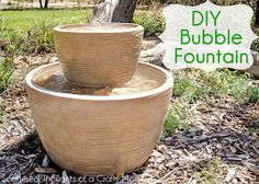 make your own outdoor bubble fountain, diy renovations projects, ponds water features, We bought the pots at Lowes but if you already have pots that would work you could probably make this for less than 25
