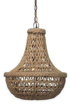 Jamie Young Company Jute Macrame 1-Light Chandelier in Antique Bronze#ad
