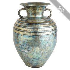 Pier 1 Imports Turquoise Patina Mosaic Vase