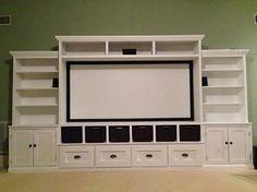Entertainment Center with Storage Galore! DIY