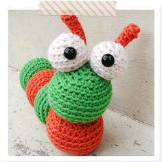 Amigurumi Caterpillar Pattern...does this look like an Eric Carle character to you?