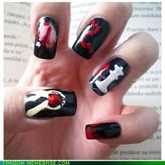 Who's ready for The Twilight Saga: Breaking Dawn Part Beautylish Beauty Tereska H. sure is with her Twilight inspired nails!