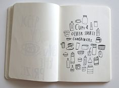 A peek inside artist Lisa Congdon's sketchbook... #sketcbook #lisacongdon