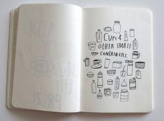 A peek inside artist Lisa Congdon's sketchbook... #sketcbook #lisacongdon