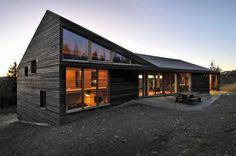 Bauen Sie eine Skihütte aus Holz