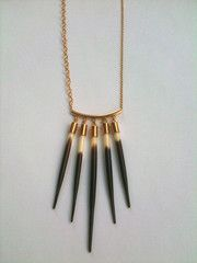 I've been stalking Kristen Elspeth's porcupine quill jewelry for years, might finally get this necklace