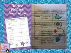 Input Ideas for Interactive Science Notebooks