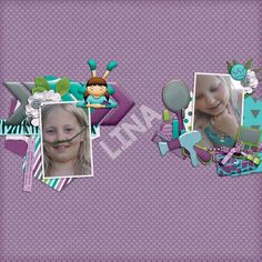 I used the #JustUsGirls kit by #TimeOutScraps,  #SnP