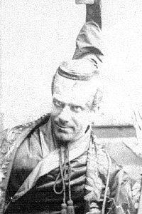 """The Mikado,"" Robert Fairbanks as The Mikado of Japan, 1885, DOC touring production."