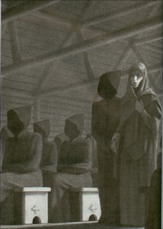 "Chris van Allsburg - Scandinavian variant of this migratory legend,""The Midnight Mass of the Dead"" from Peter Christian Asbjørnsen This tale is widely spread in Europe and is extremely old, having been set in Autun, Burgandy, by Gregory of Tours in his De Gloria Confessorum"